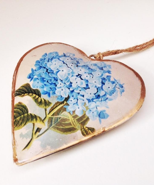 Blue Ceramic Hanging Heart