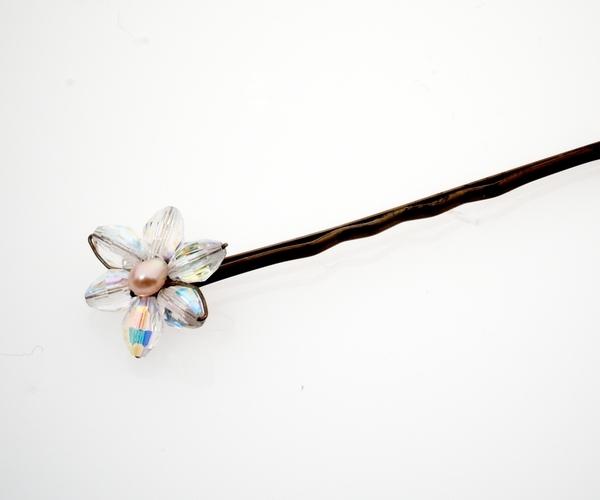 Crystal Flower Hairpin
