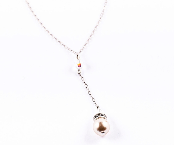 Georgia Drop Pearl Necklace