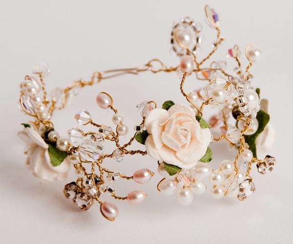 Ivory Rose Cuff