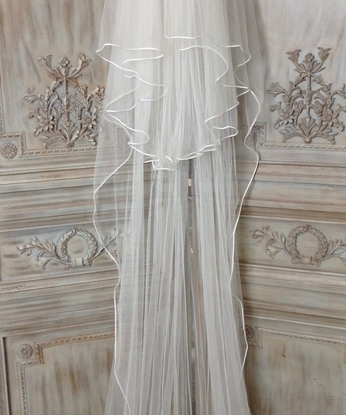 Silk Veil with Russian Braid Edge