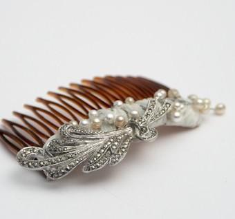 Marcasite leaf Comb