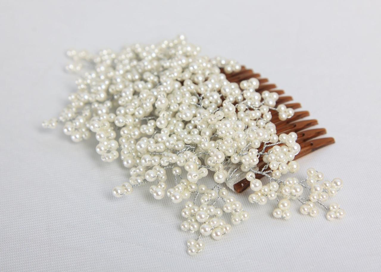 Lepley Pearl Bridal Comb