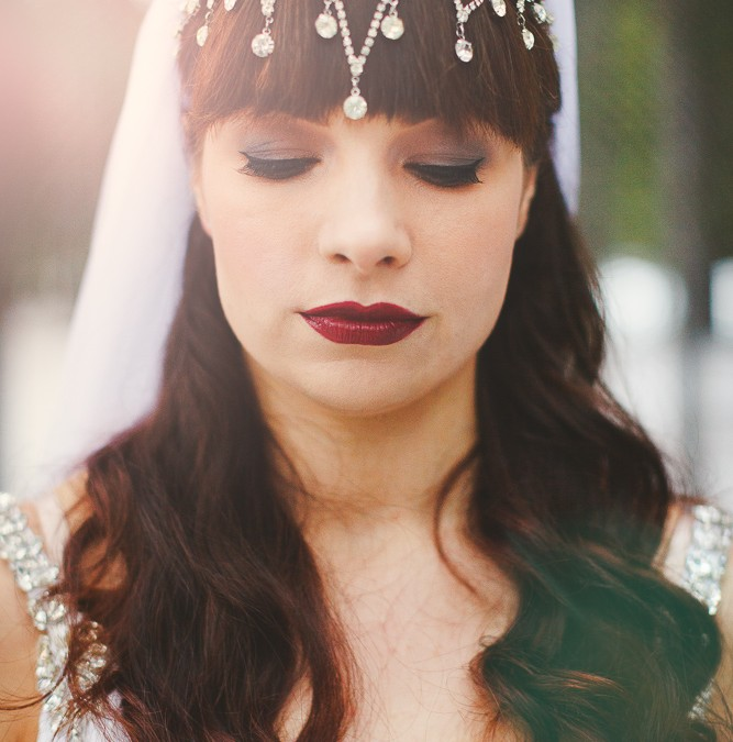 Crystal Headdress and Bespoke Veil for Canada Wedding!