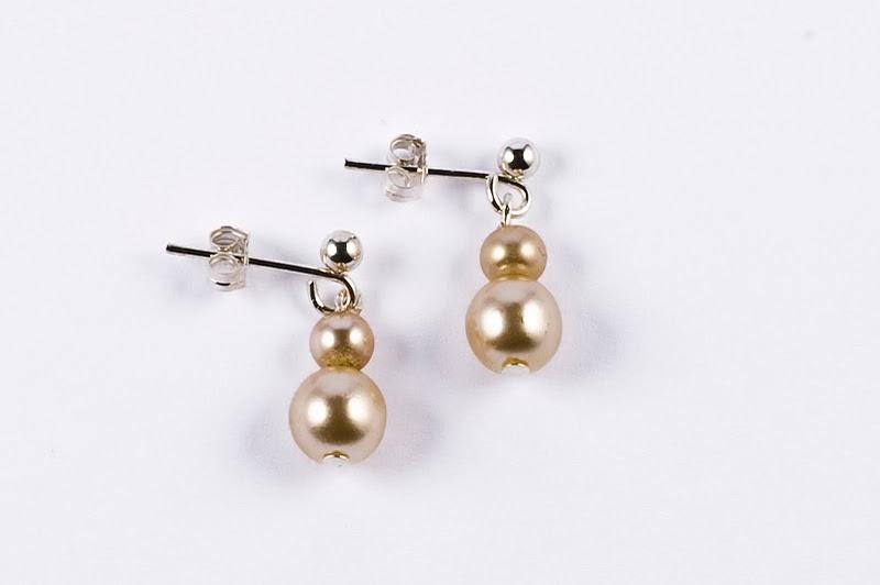 Double Pearl Drop Earring