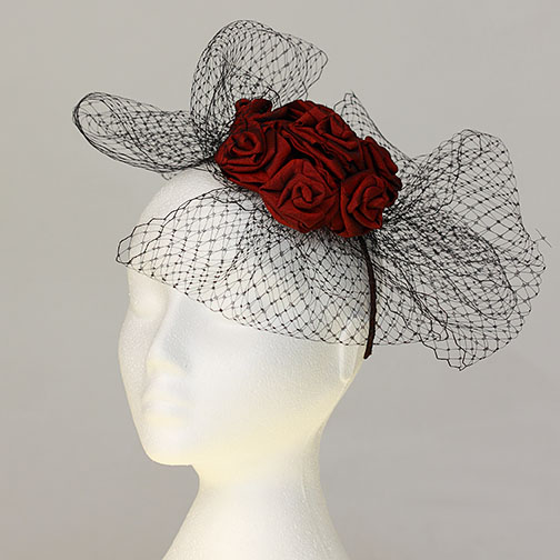 Rose Veiled Hat