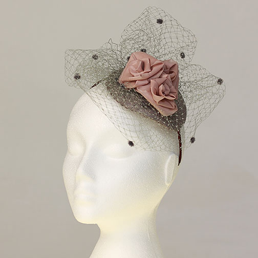 Dusky Pink and Grey Hat