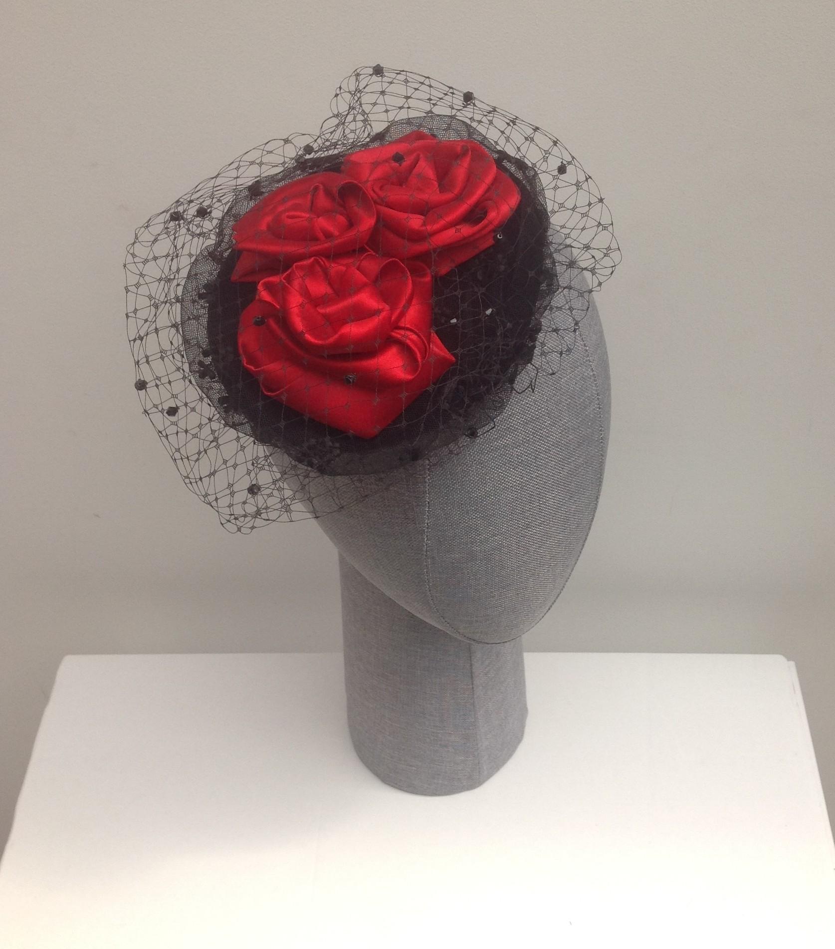 Red rose and velvet hatette
