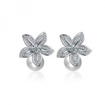 Annabelle Pearl Wedding Earrings
