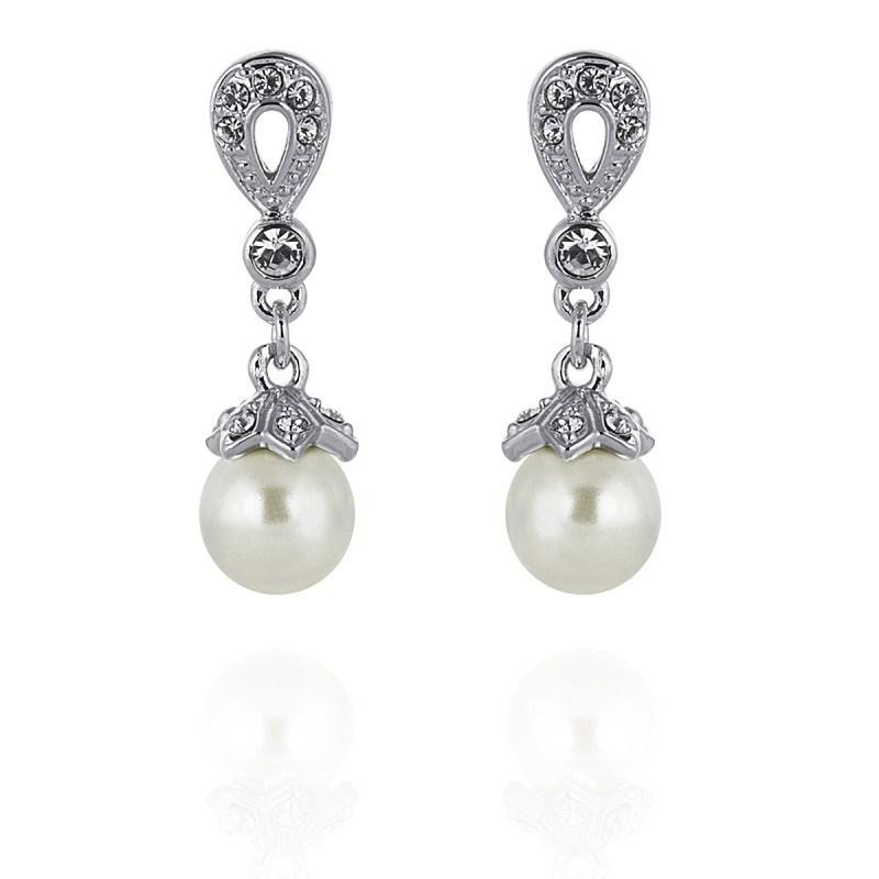 Adele Pearl and Cubic Zirconia Earrings