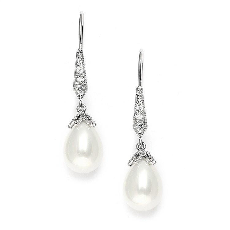 Serenity Pearl Bridal Earrings