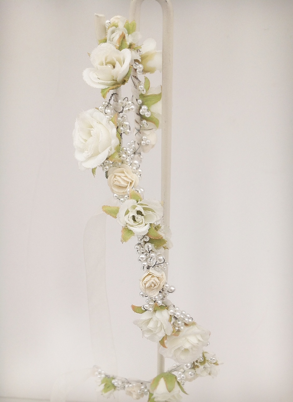 Ivory Floral Hair Garland