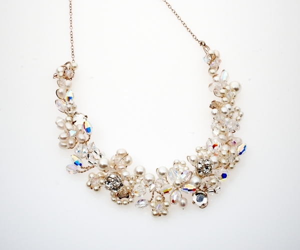 Champagne Filagree Necklace