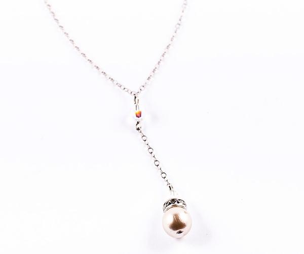 Georgia Drop Pearl Necklace