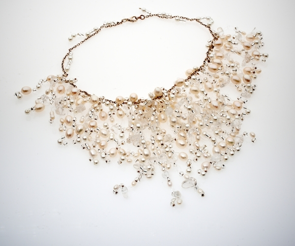 Seed & Crystal Pearl Necklace