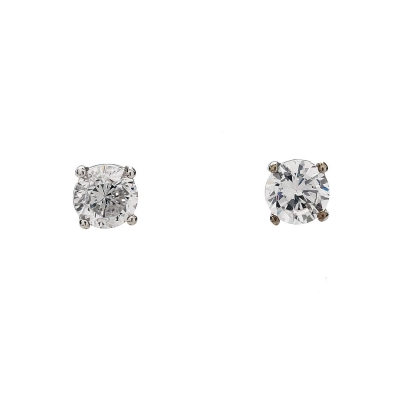 Cubic Zirconia 5mm Stud Earrings