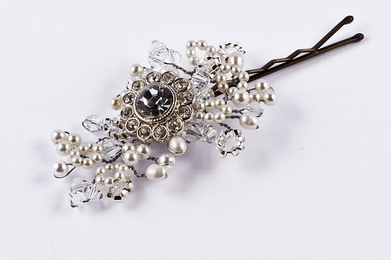 Vintage Diamante Hair Pin