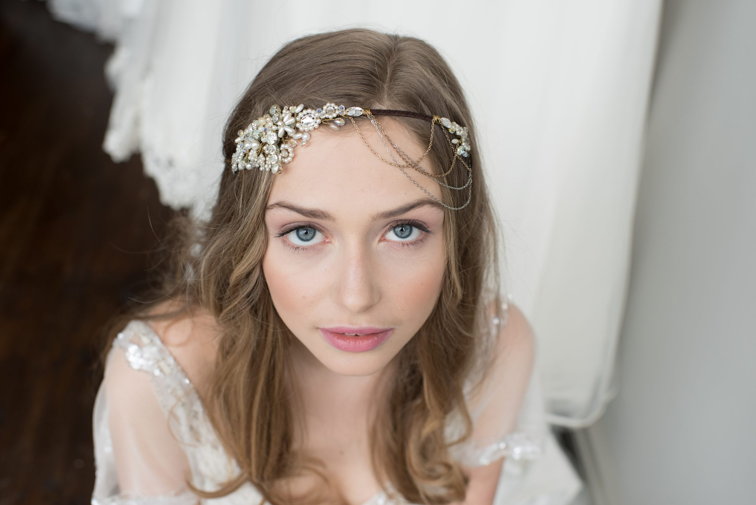 Pippa Pearl Cascade Headdress