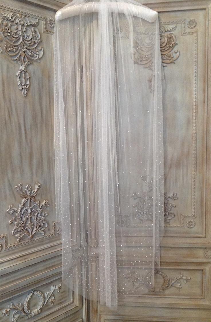Crystal Silk Veil