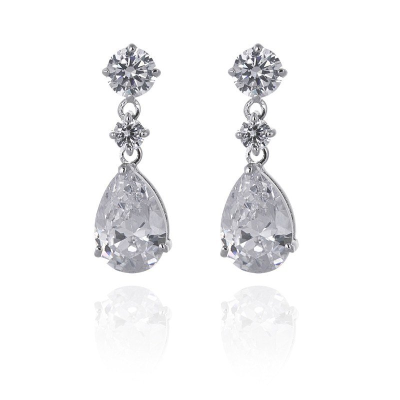 Alicia Simulated Diamond Earrings