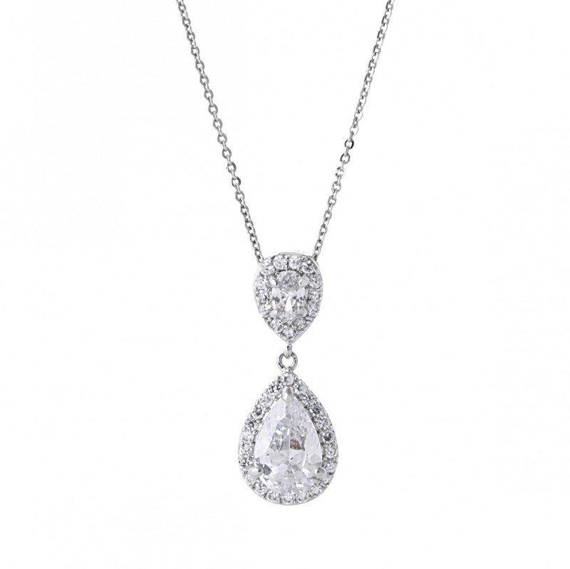 Faye Simulated Diamond Pendant