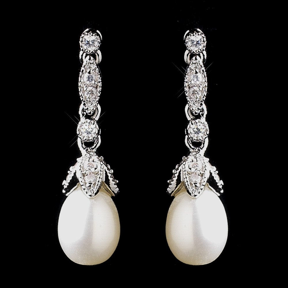 Nerea Diamonte and Pearl Earrings